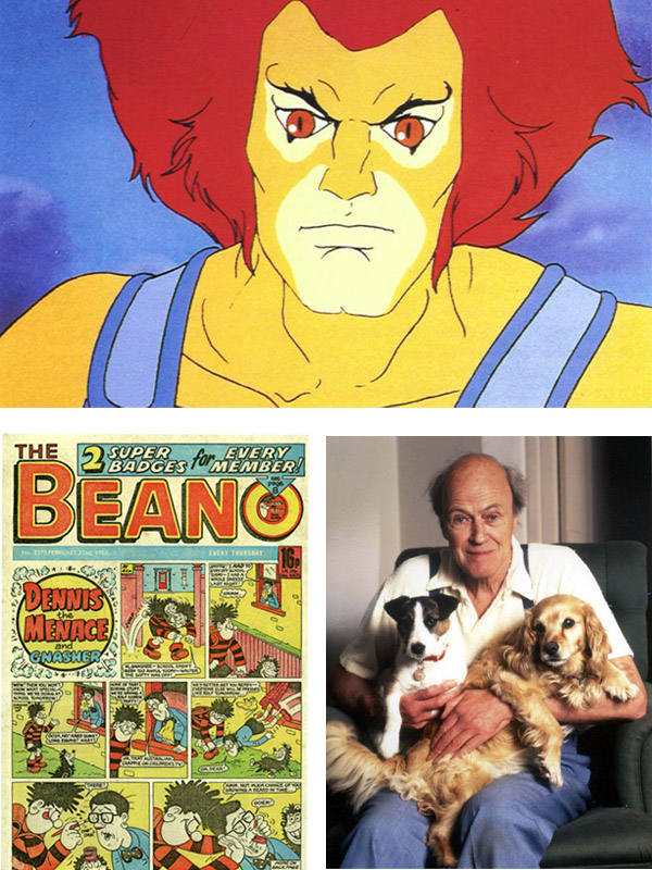 Thundercats, The Beano and Roald Dahl