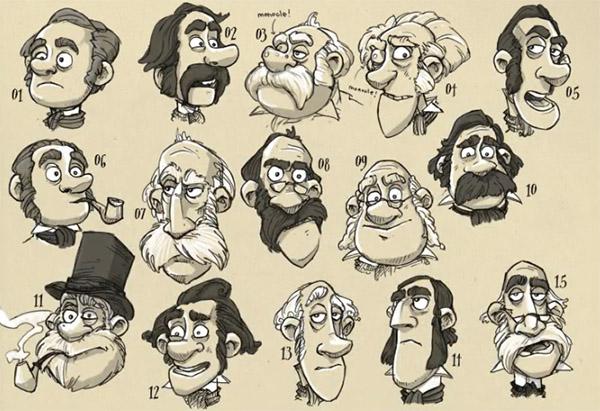 Jonny Duddle, Pirates! concept sketches Aardman