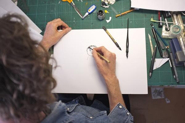 Neal Layton in his studio