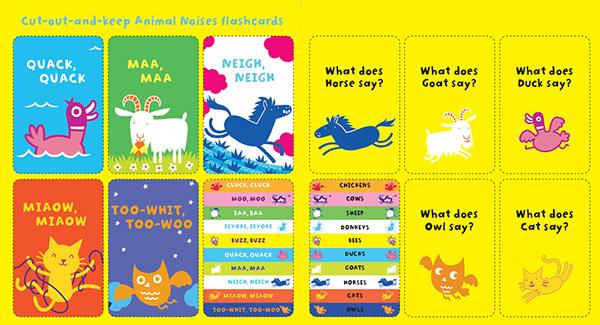 animal noises flashcards