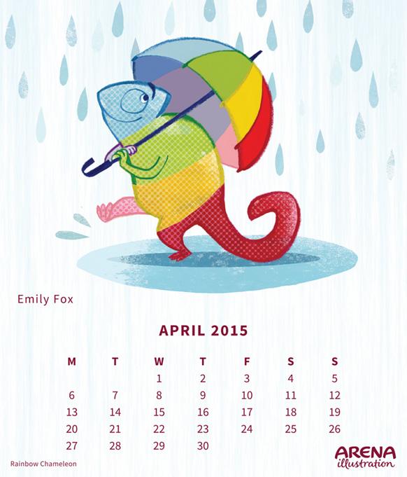 Rainbow Chameleon by Emily Fox