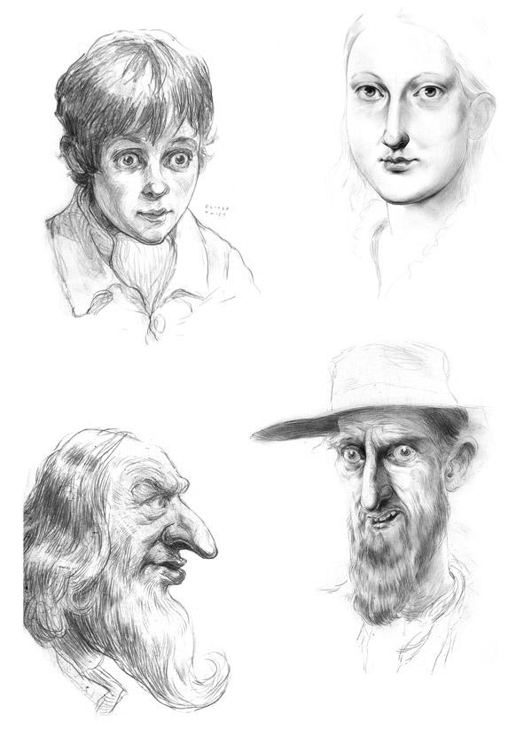 Oliver Twist illustrations by Simon Bartram