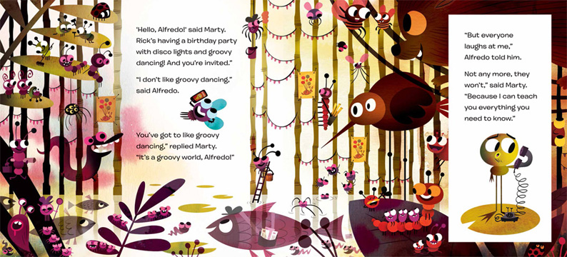 It's a Groovy World Alfredo, illustrated by Chris Garbutt