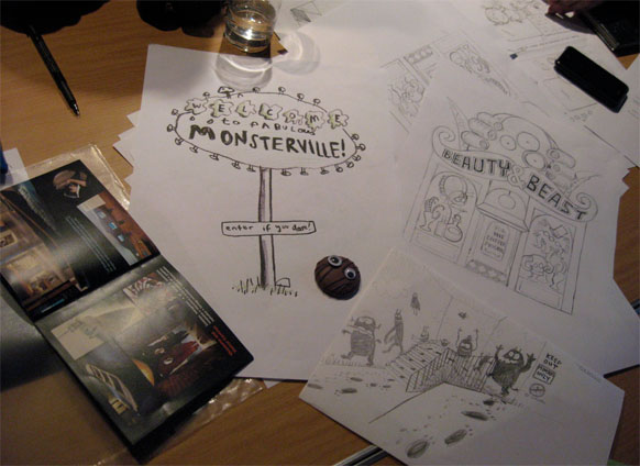 Monsterville-sketches