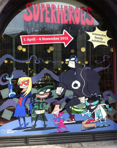 Superheroes-window