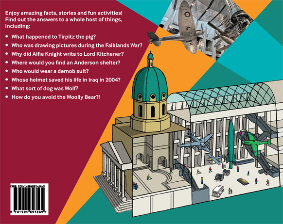 Back cover cut-away illustration of the front of the Museum and atrium