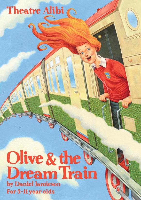 Olive & The Dream Train - Illustration by Simon Bartram