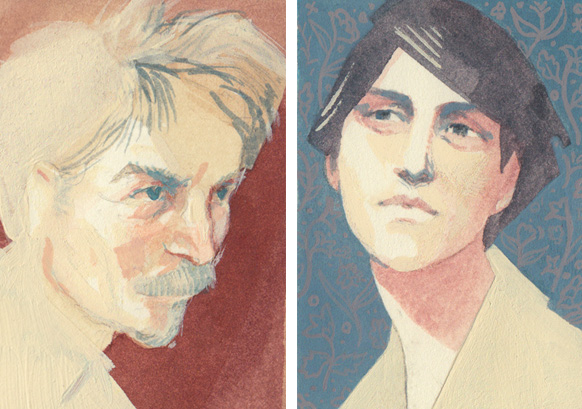 Greg Manchess and Irene Gallo portraits by Serena Malyon
