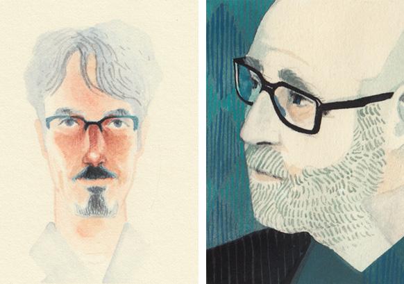 Greg Ruth and Allen Spiegel portraits by Serena Malyon