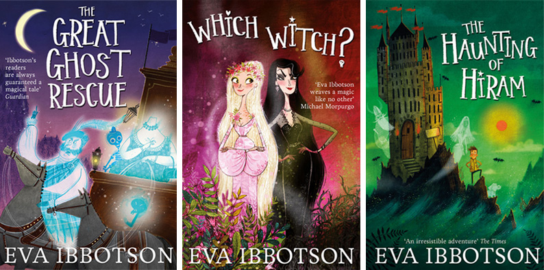 Eva Ibbotson cover illustrations and lettering by Alex T Smith