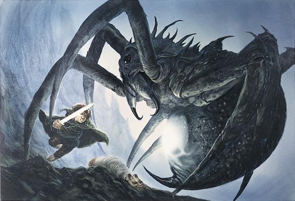 Sam & Shelob by John Howe - Tolkien Calendar
