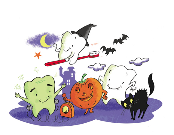 Colgate Halloween illustrated by David Hitch
