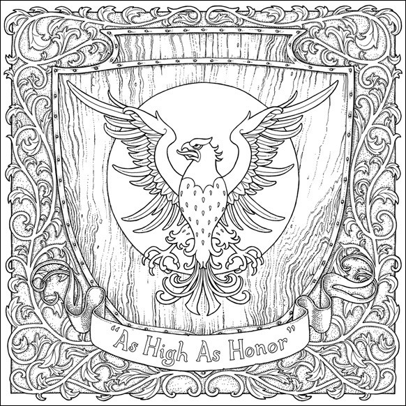 As High As Honor, A Game of Thrones Colouring Book illustrated by Tomislav Tomic