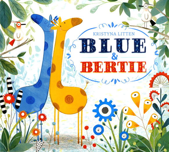 Cover Illustration of Blue and Bertie by Krystina Litten