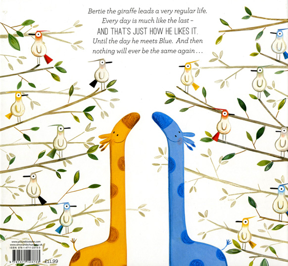 Back Cover of Blue and Bertie by Kristyna Litten