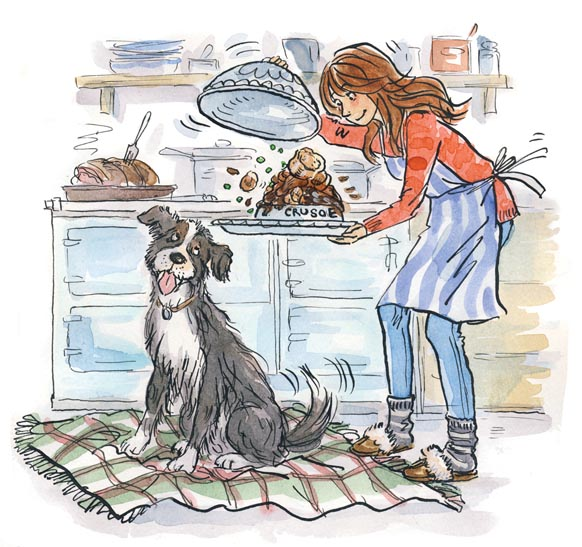 Mindy and Crusoe for Sunday Express by Sue Hellard