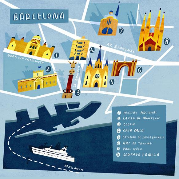 Emily Fox Barcelona Map