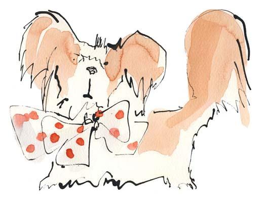 Sue Hellard- Bow Dog