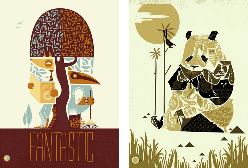 Graham Carter- Fantastic Mr Fox and Cirque de Bird, Panda