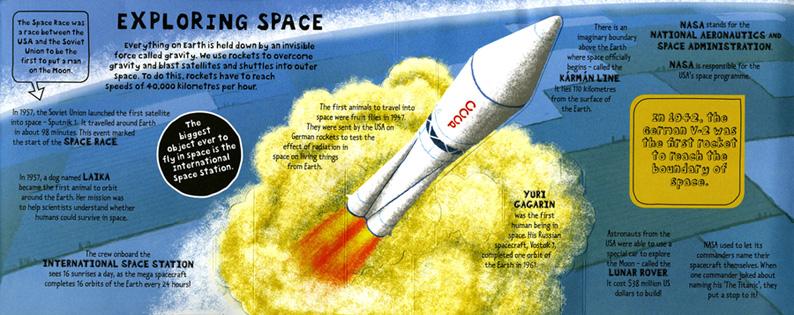 Frances Castle- Pop out Space Rocket
