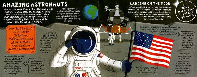 Frances Castle- Space Pop Out, Astronauts