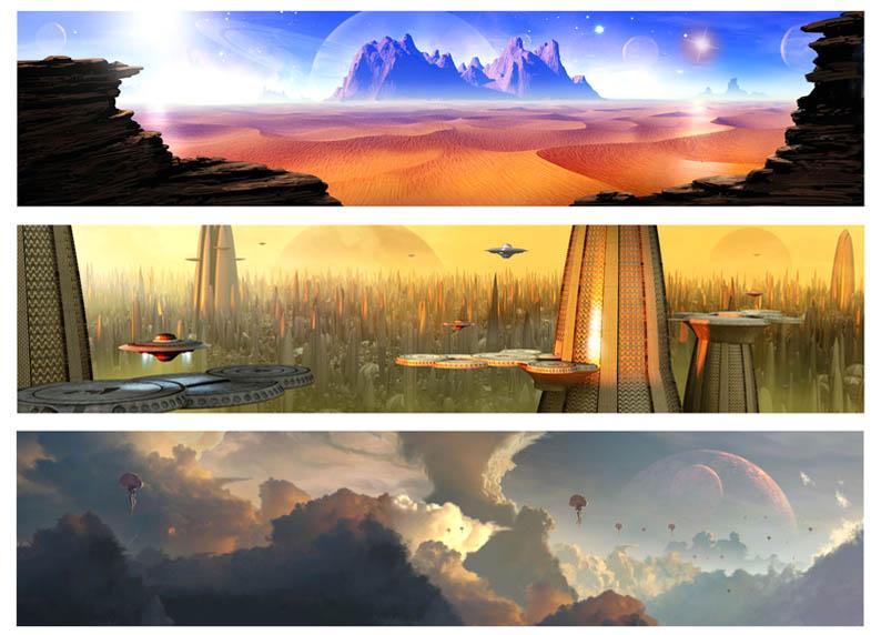 Fred Gambino- Alienology Worlds x3