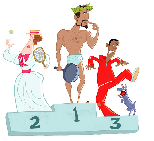 Illustration by Steve May for Fitter, Faster, Funnier Olympics