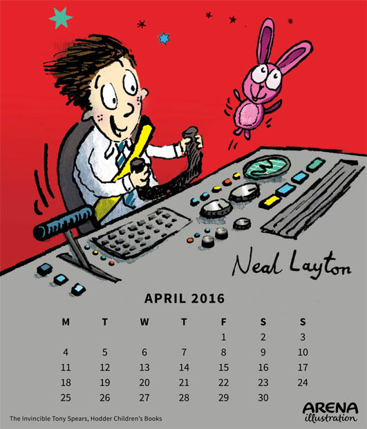 Neal Layton- Arena Calendar March 2016