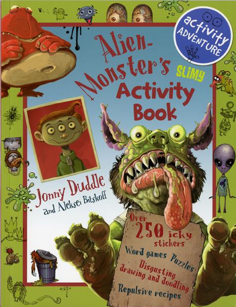 Jonny Duddle and Aleksei Bitskoff Alien Monster Activity Book Cover
