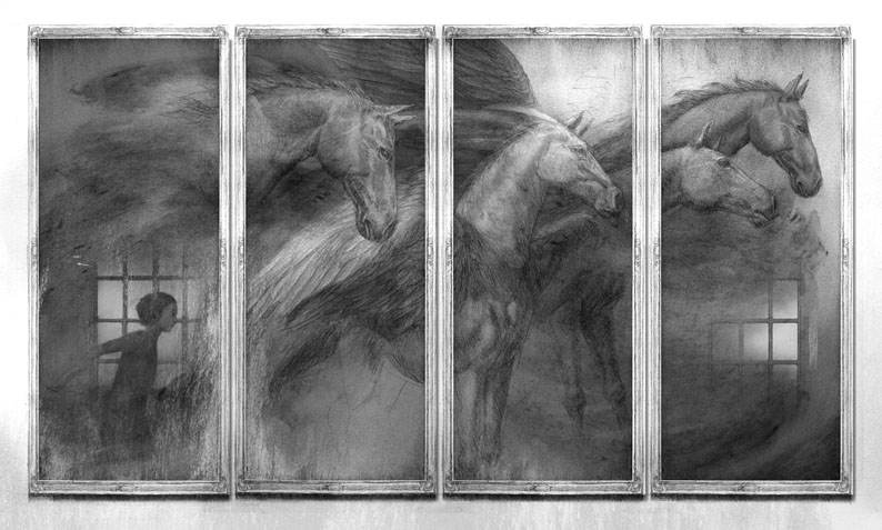 Levi Pinfold- Horses of Briar Hill- Horses Through Mirrors