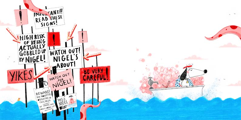 Alex T Smith- Claude All At Sea- Nigel Signs