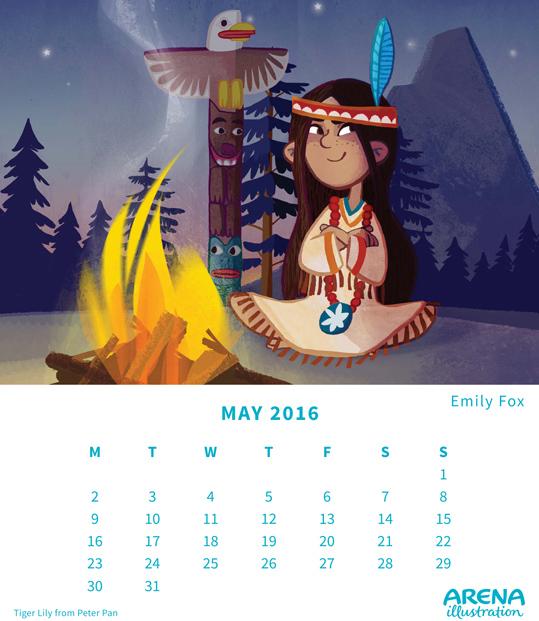 Arena Calendar- May 2016, Emily Fox