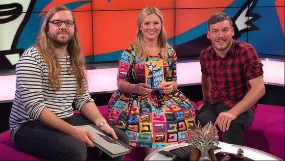 Thomas Flintham and Pamela Butchart on CBBC Newsround