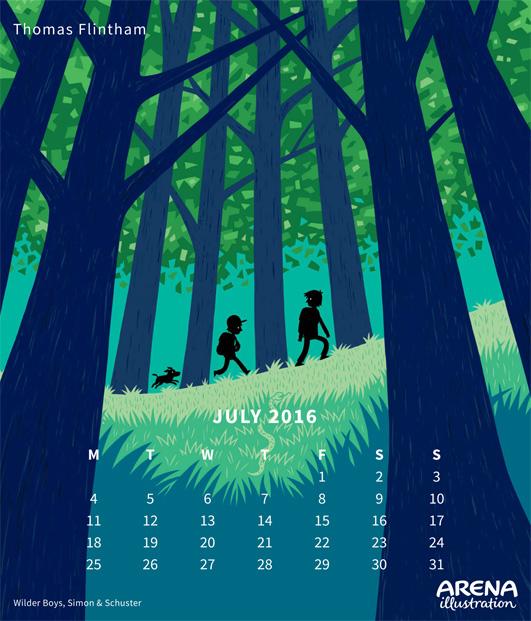 Arena Calendar- July, Thomas Flintham