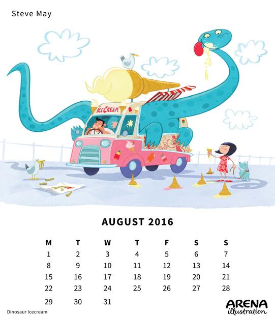 Steve May- Arena Claendar August 2016