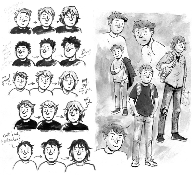 Either Way Character Sketches by Euan Cook
