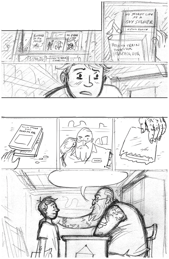 Euan Cook's rough sketch from Either Way
