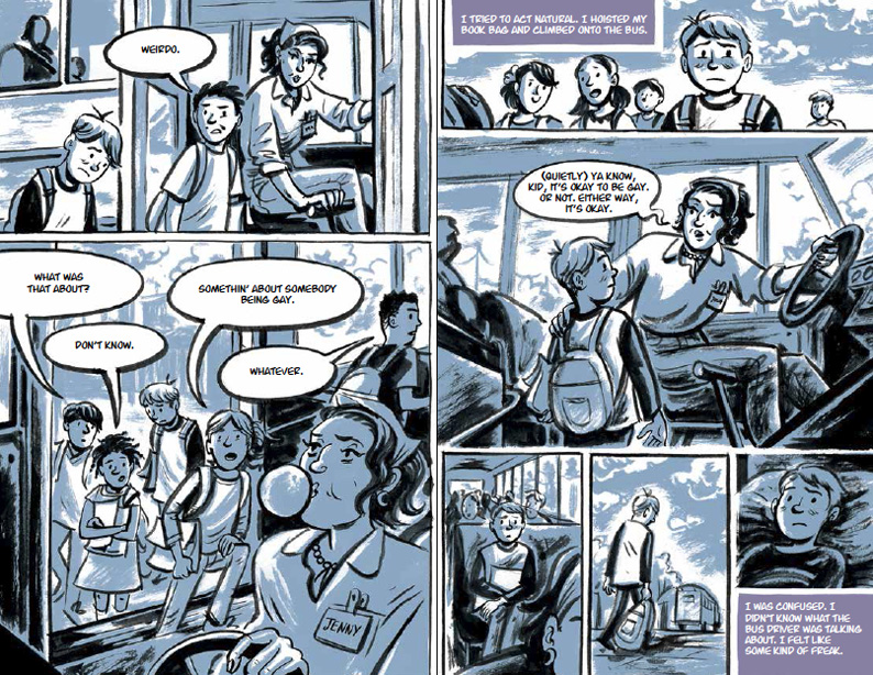 It's OK To Be Gay from Either Way, Illustrated by Euan Cook