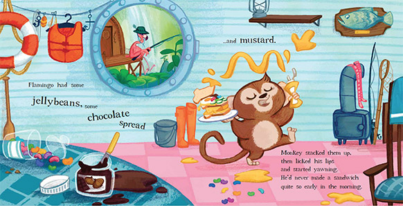 Emily Fox Monkey's Sandwich Picture Book  by Michelle Robinson