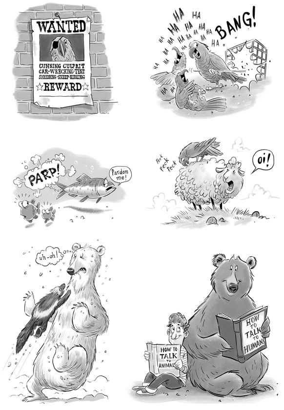 Animals Behaving Badly illustrated by Adam Stower