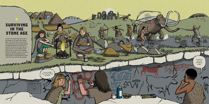 Spot the Mistake: Lands of Long Ago - illustrated by Frances Castle