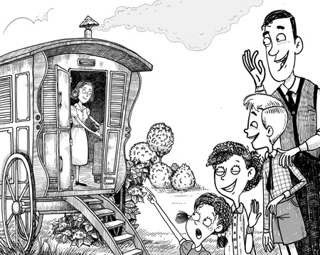 Enid Blyton: The Caravan Family illustrated by Aleksei Bitskoff