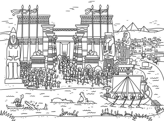 Thomas Flintham Around The World Colouring Book, Ancient Egypt