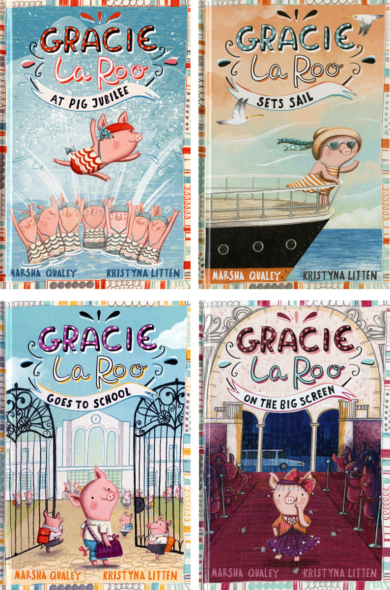 Gracie Laroo covers illustrated by Kristyna Litten