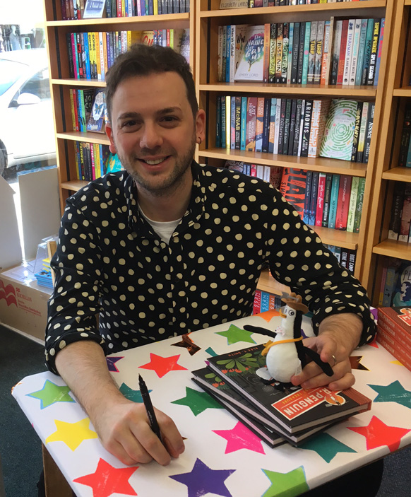 Alex T. Smith signing books at Muswell Hill bookshop