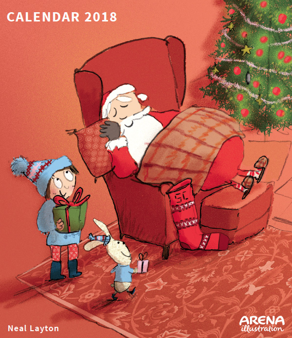 Arena Illustration Neal Layton Emily Brown and Father Christmas