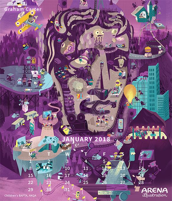 Children's BAFTA poster illustration by Graham Carter