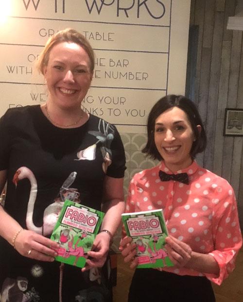 Laura James & Emily Fox at the book launch for Fabio Flamingo