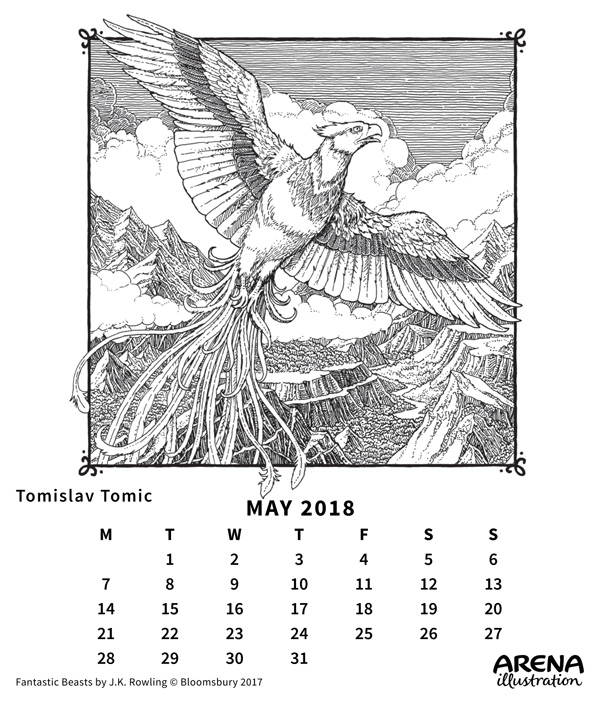Arena May Calendar illustrated by Tomislav Tomic
