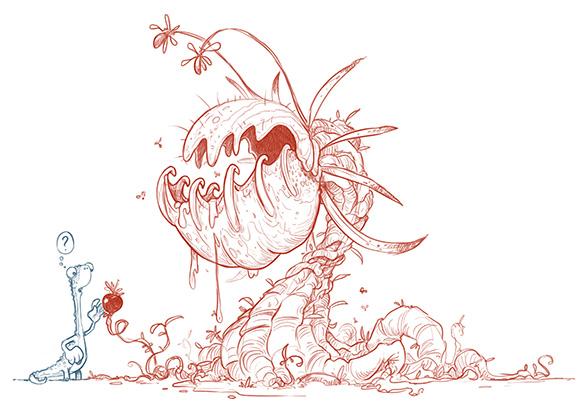 Jonny Duddle Gigantosaurus TV character sketches